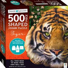 Jigsaw Gallery 500-Piece Shaped Jigsaw: Tiger