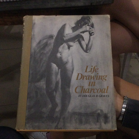 Life drawing in charcoal, by Douglas R. Graves (used, hardcover)