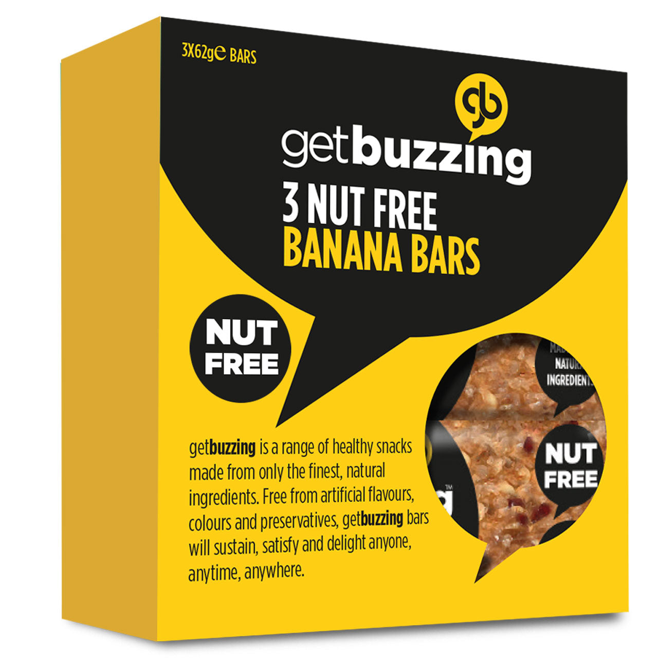 Banana Nut Free Flapjacks 3 pack