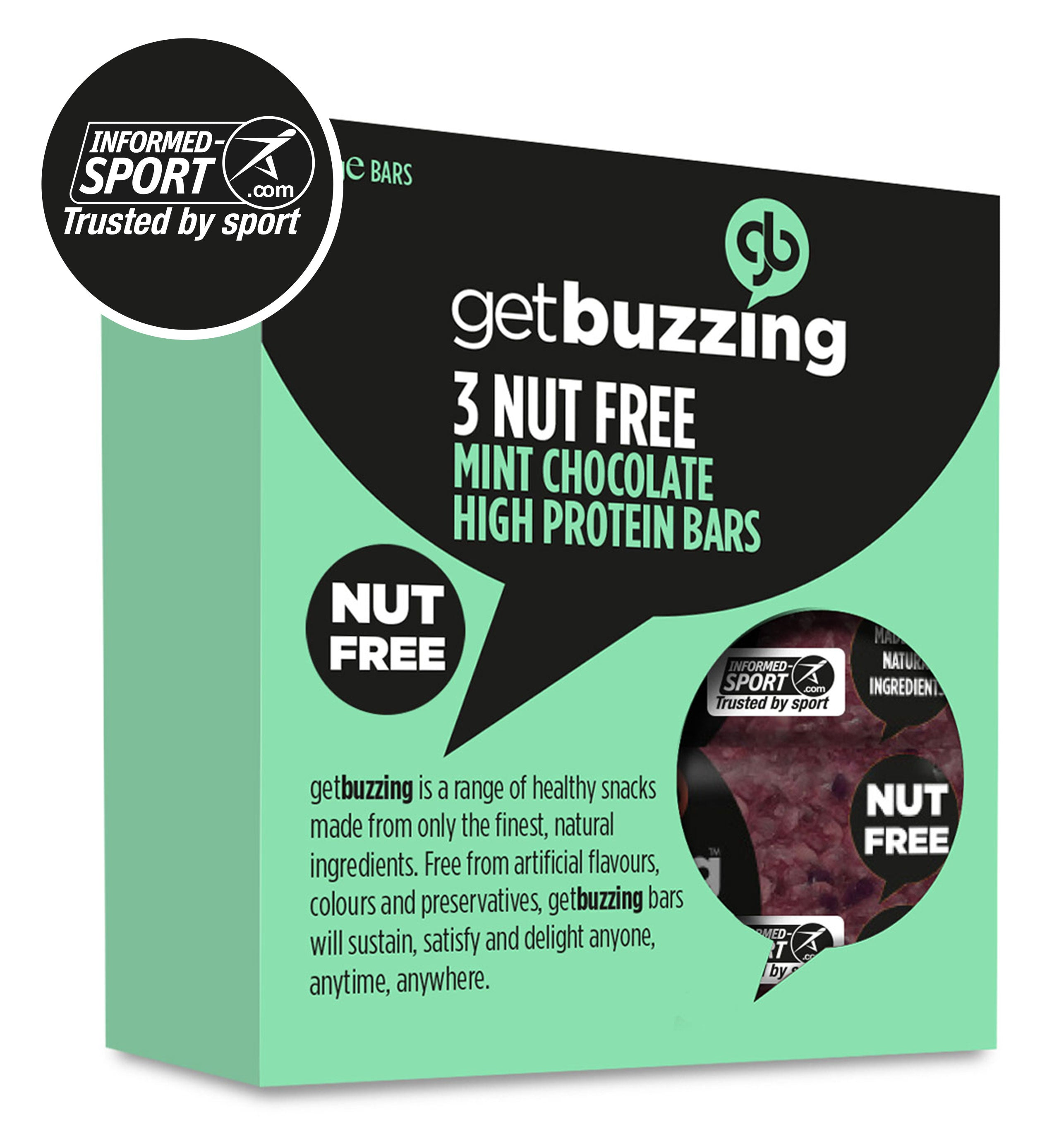 Mint Chocolate Nut Free High Protein Flapjacks 3 pack
