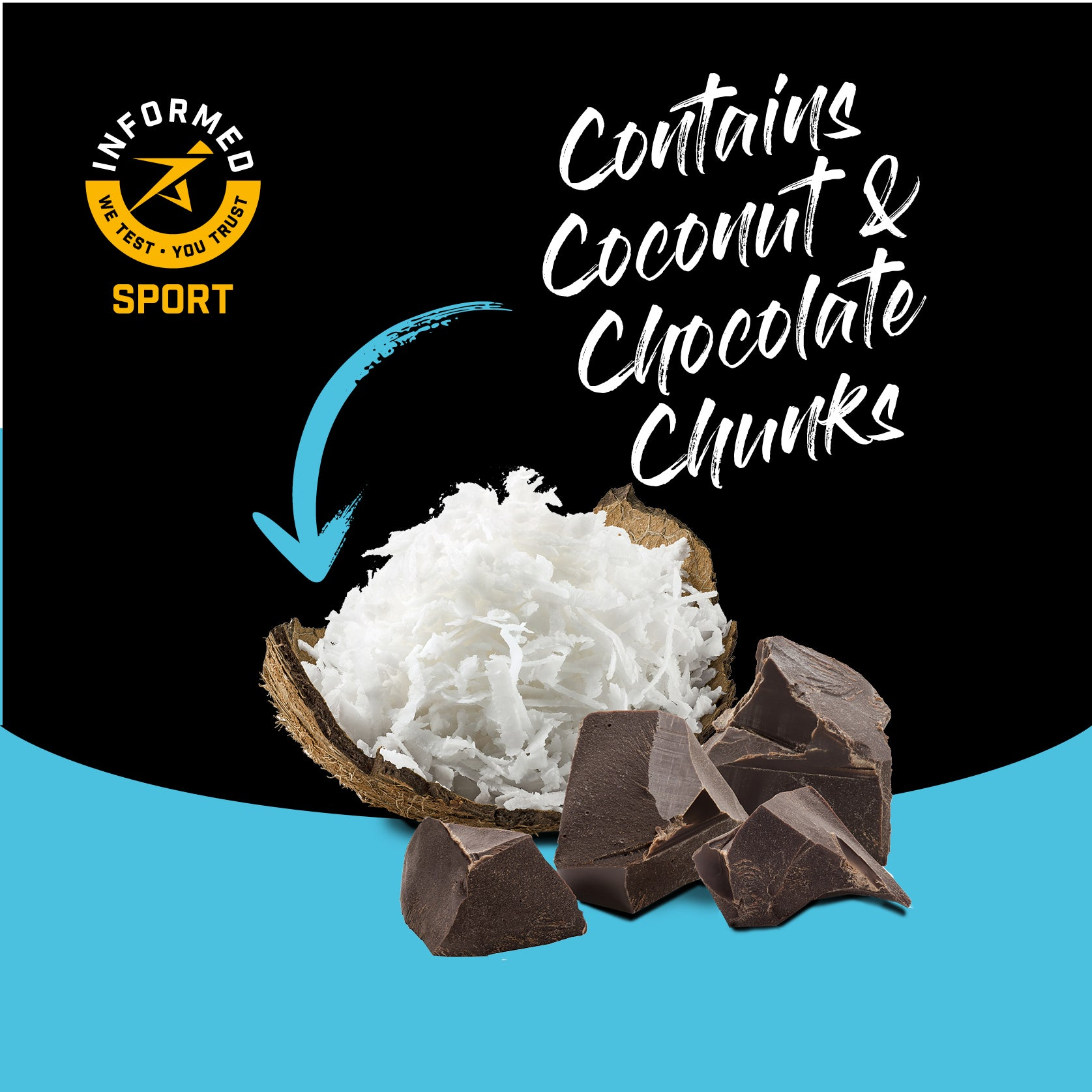 Chocolate Coconut, Nut and Gluten Free High Protein Oat Bar 12 Pack