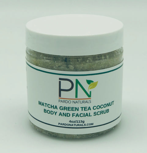 Matcha Green Tea Coconut Body and Facial Scrub