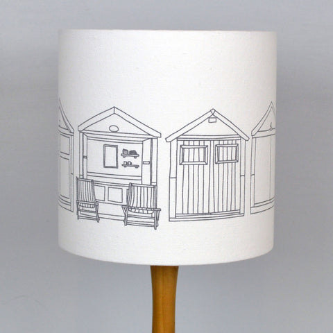 Beach Hut Drum Lampshade