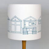 Beach Hut Teal Lampshade