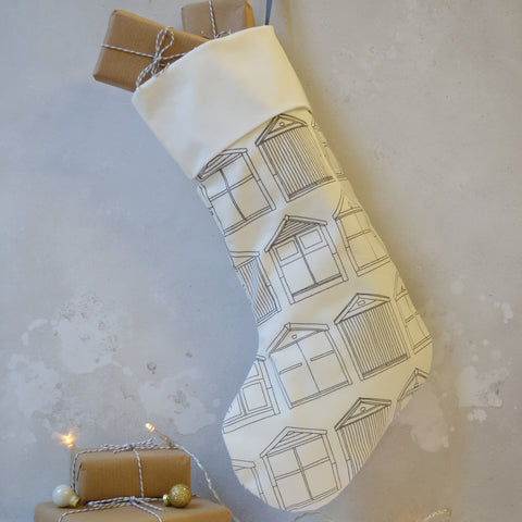 Beach Hut Christmas Stocking