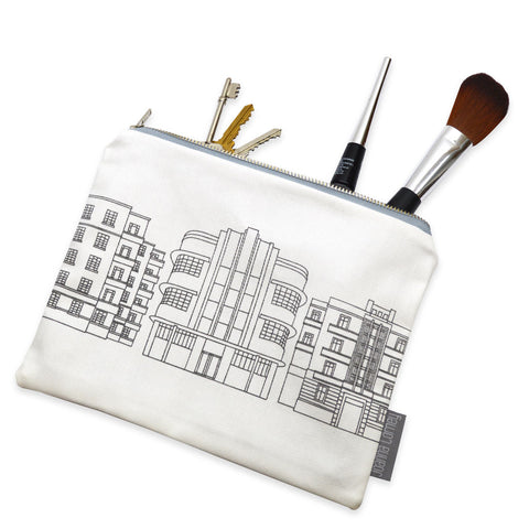 Deco Building Zip Purse