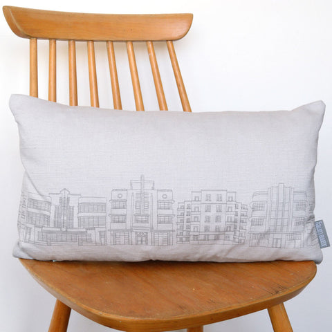 Deco Building Cushion - Grey Linen