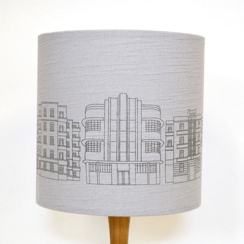 Deco Building Lampshade - Grey Linen