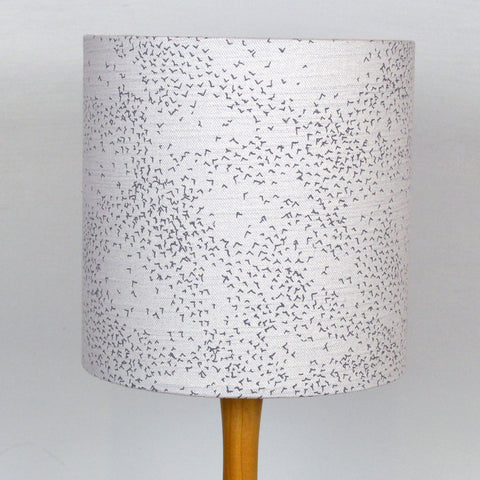 Starlings Lampshade - Grey Linen