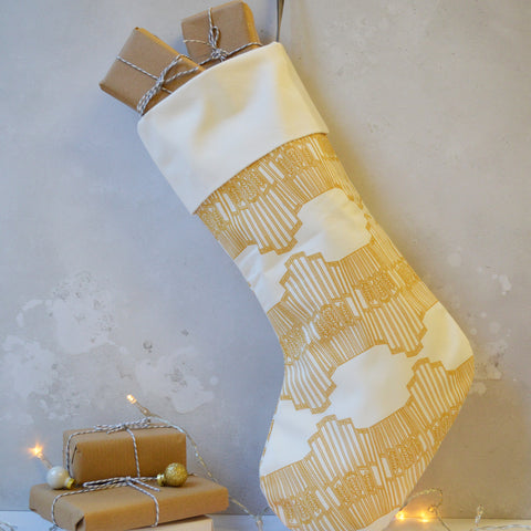 Ornamental Wave Christmas Stocking