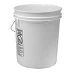 Grit Guard© white semi-transparent 5 gallon bucket