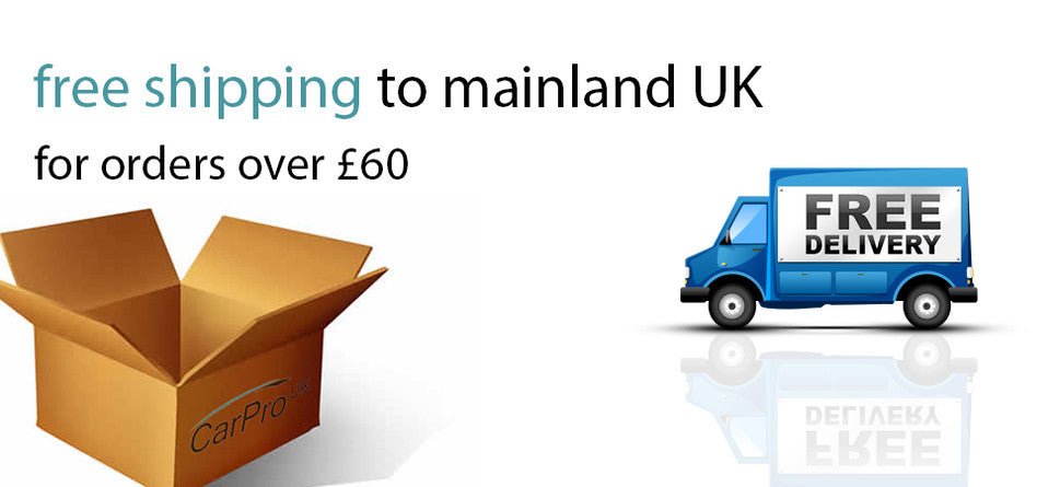Free shipping on CarPro UK
