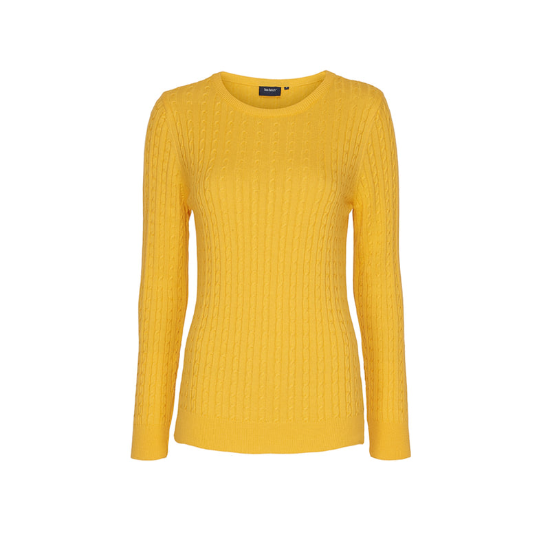 Barbara Kabel Pullover Strik - Citron