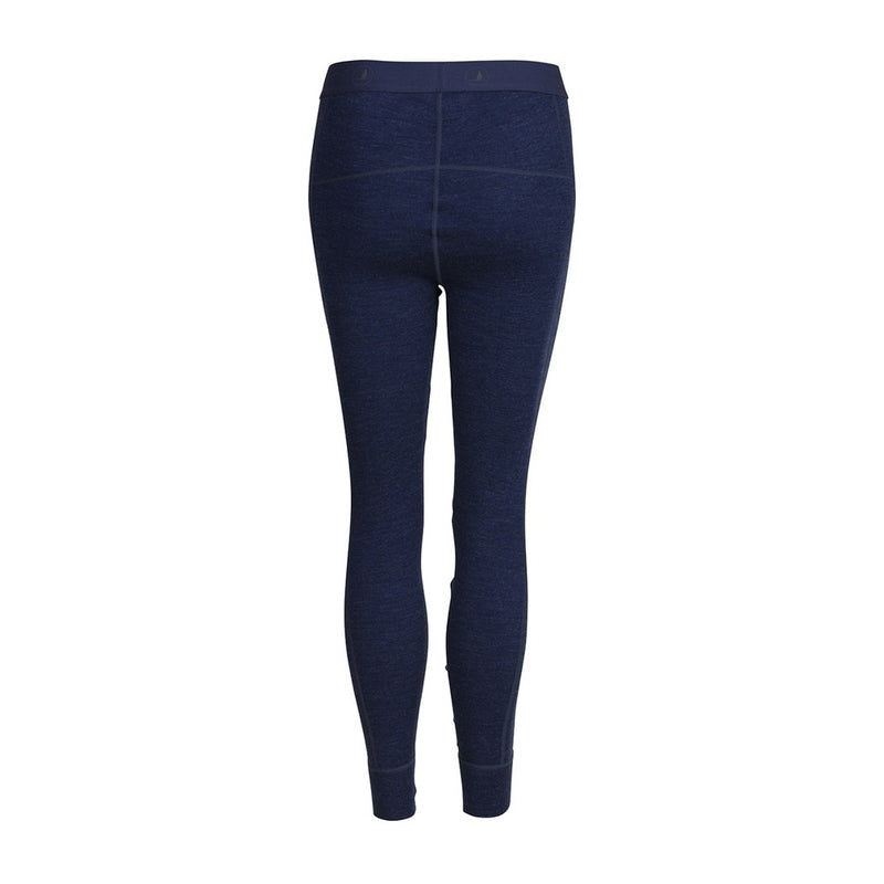 Dame Leggings i Merino Uld - Navy