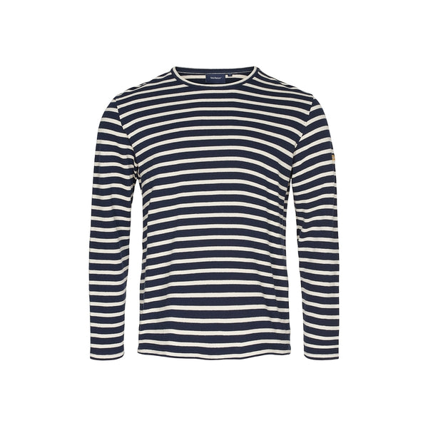 Hugo Stribet Langærmet T-shirt - SR Navy/Ecru