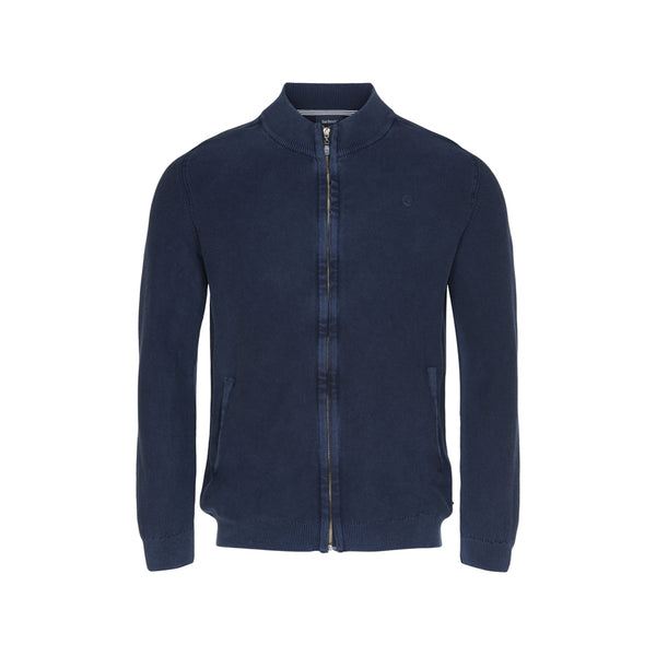 Hawkins Full Zip Knit Cardigan - SR Navy