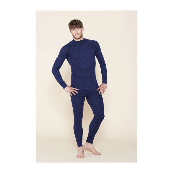 Herre Leggings i Merino Uld - Navy