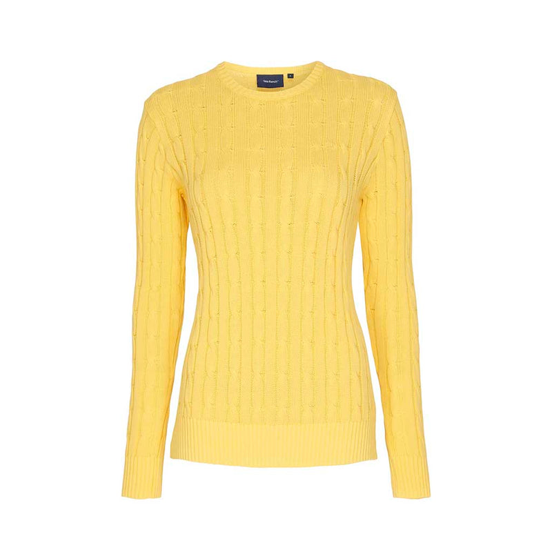 Leonora Langærmet Strik Sweater - Citron