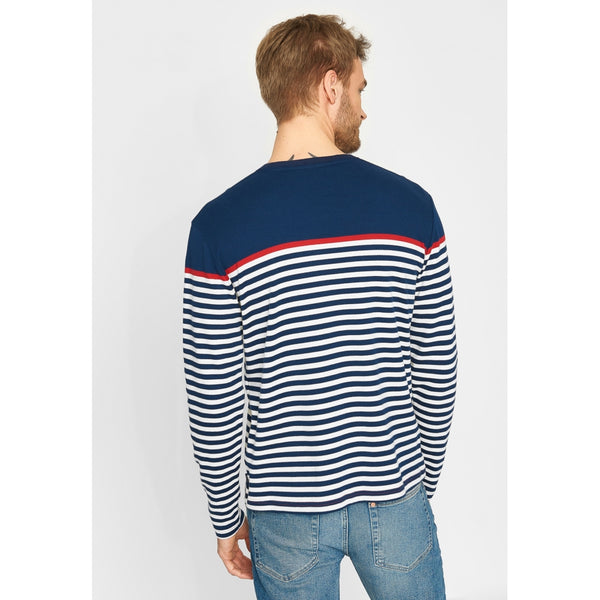 Hauge Long sleeve Striped Tee - SR Navy/SR Rød/Pearl
