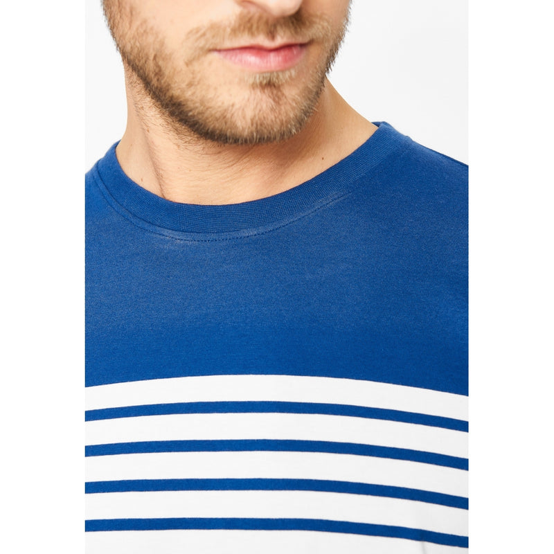 Harley engineered stripe long sleeve tee - Tusmørkeblå/Pearl