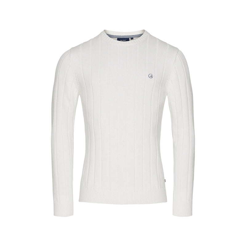 Simon Langærmet Strik Sweater - Pearl