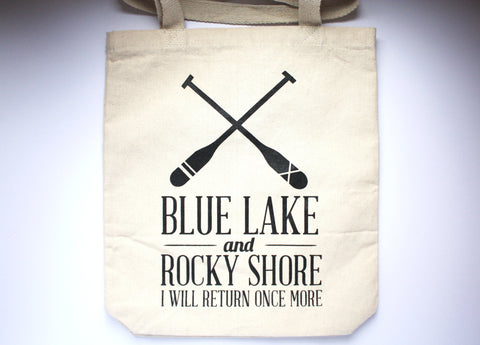 Blue Lake & Rocky Shore Tote