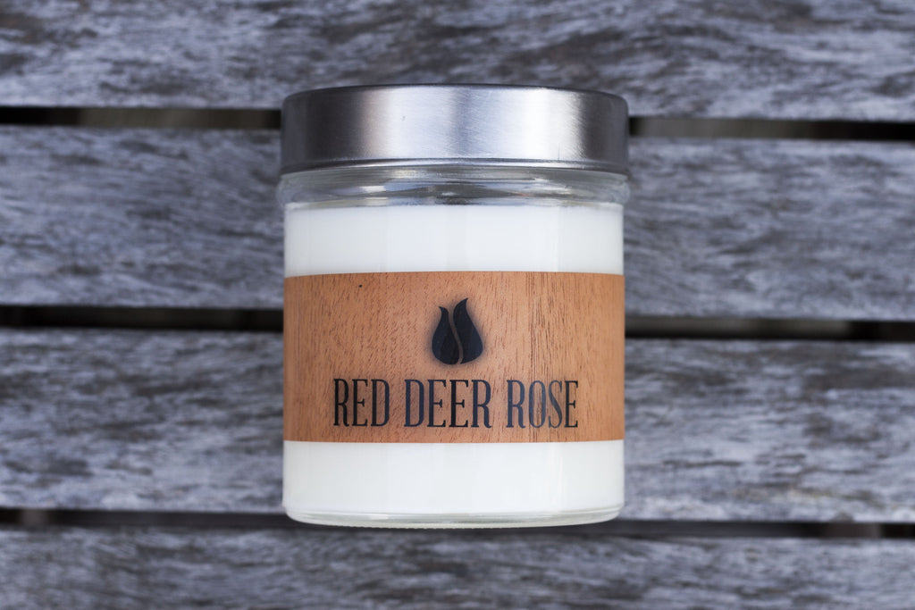 Red Deer Rose Scented Soy Candle
