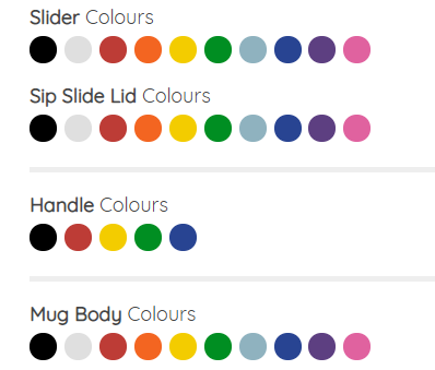 Cup colour options