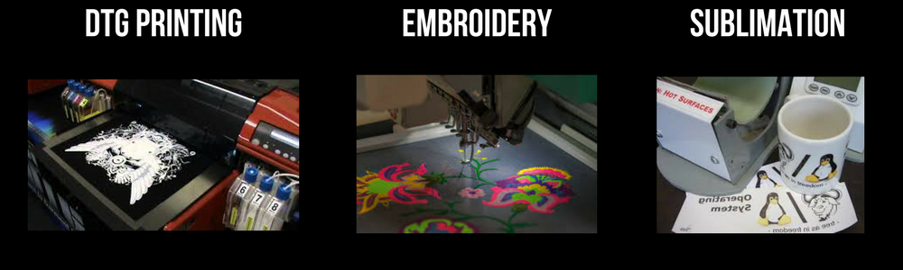DTG printing UK, Embroidery UK, Sublimation UK,