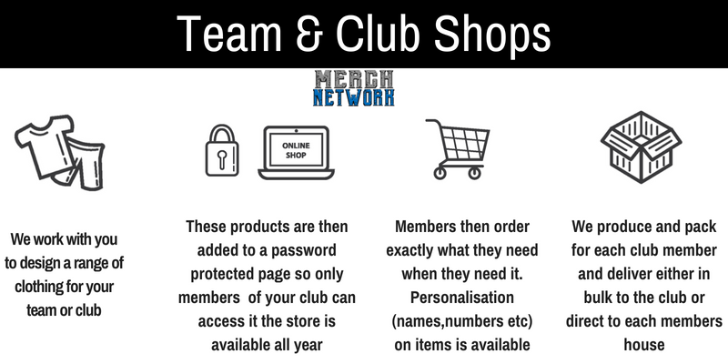 Team and Club merchandise