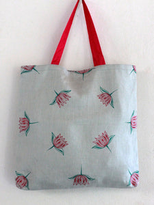GIFT TOTE | FROSTED MINT LOTUS