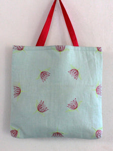 GIFT TOTE | POWDER BLUE LOTUS