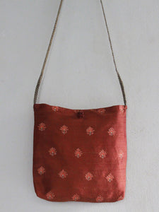 SLING TOTE BAG | BURNT OCHRE | FLORAL BUTTIS