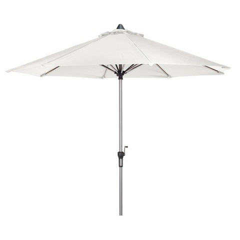 3m Deluxe Crank Parasol in Creamy White with 38mm Brushed Aluminium Pole