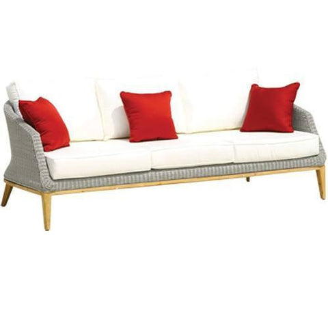 Garden Sofas & Sofa Sets - Grace 3 Seater Sofa Including Cushion In Platinum Finish