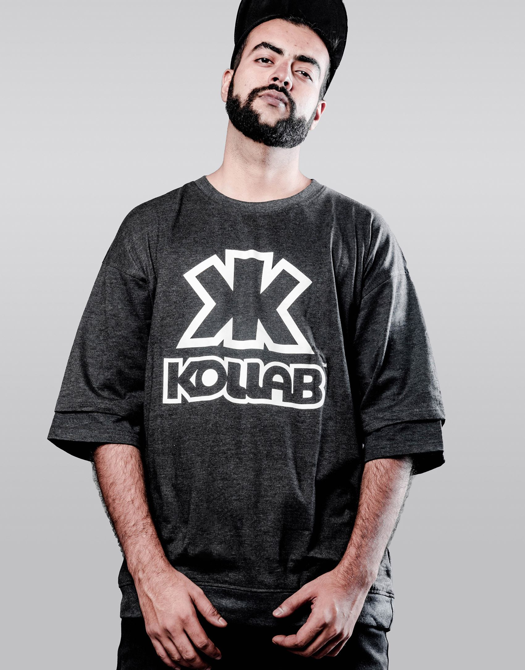 "Kollab® ""Style is Power"" Layered Oversized Tee 
