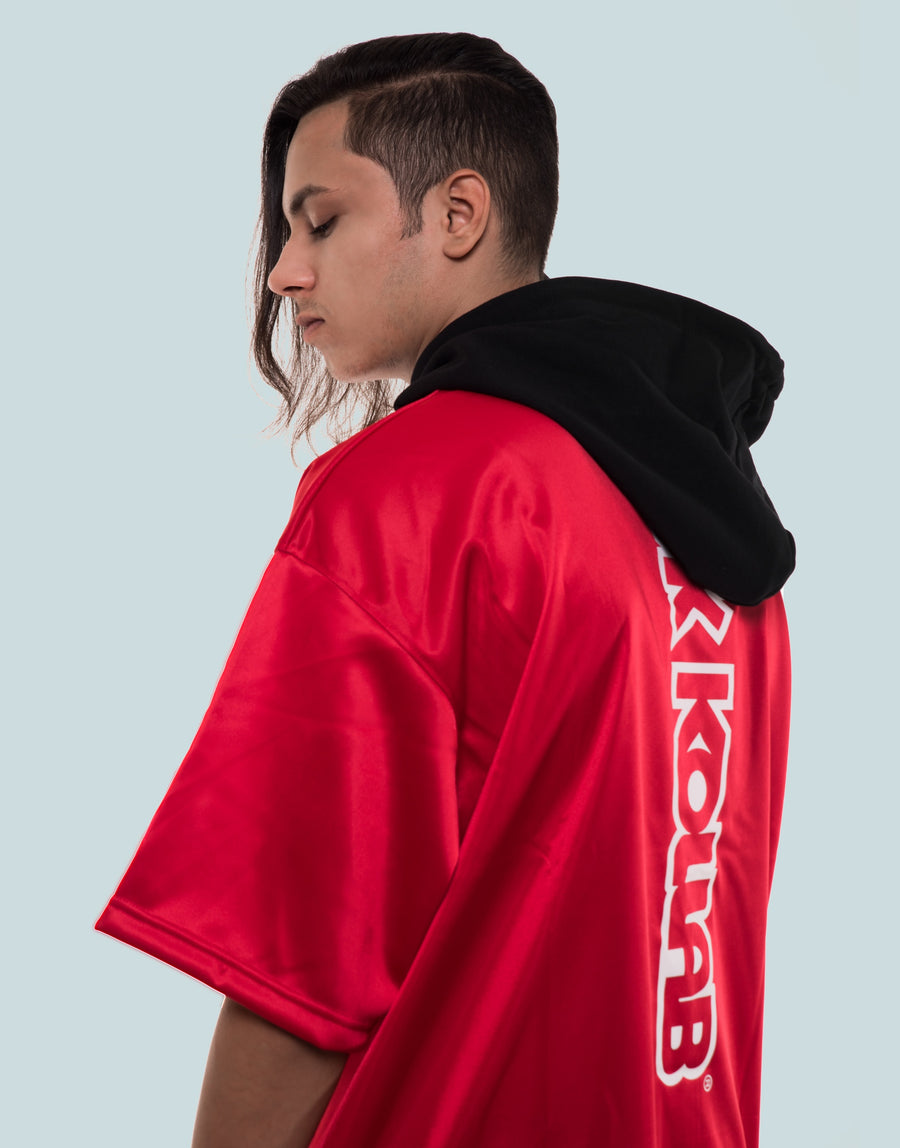 Kollab® Hooded Kimono Sweatshirt - Red-Black | Kollab Lifestyle | www.kollablifestyle.com