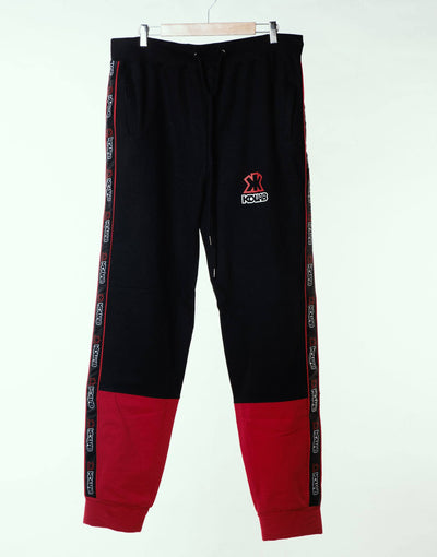 Kollab® Bi-Tone Sweatpants - Black-Red | Kollab Lifestyle