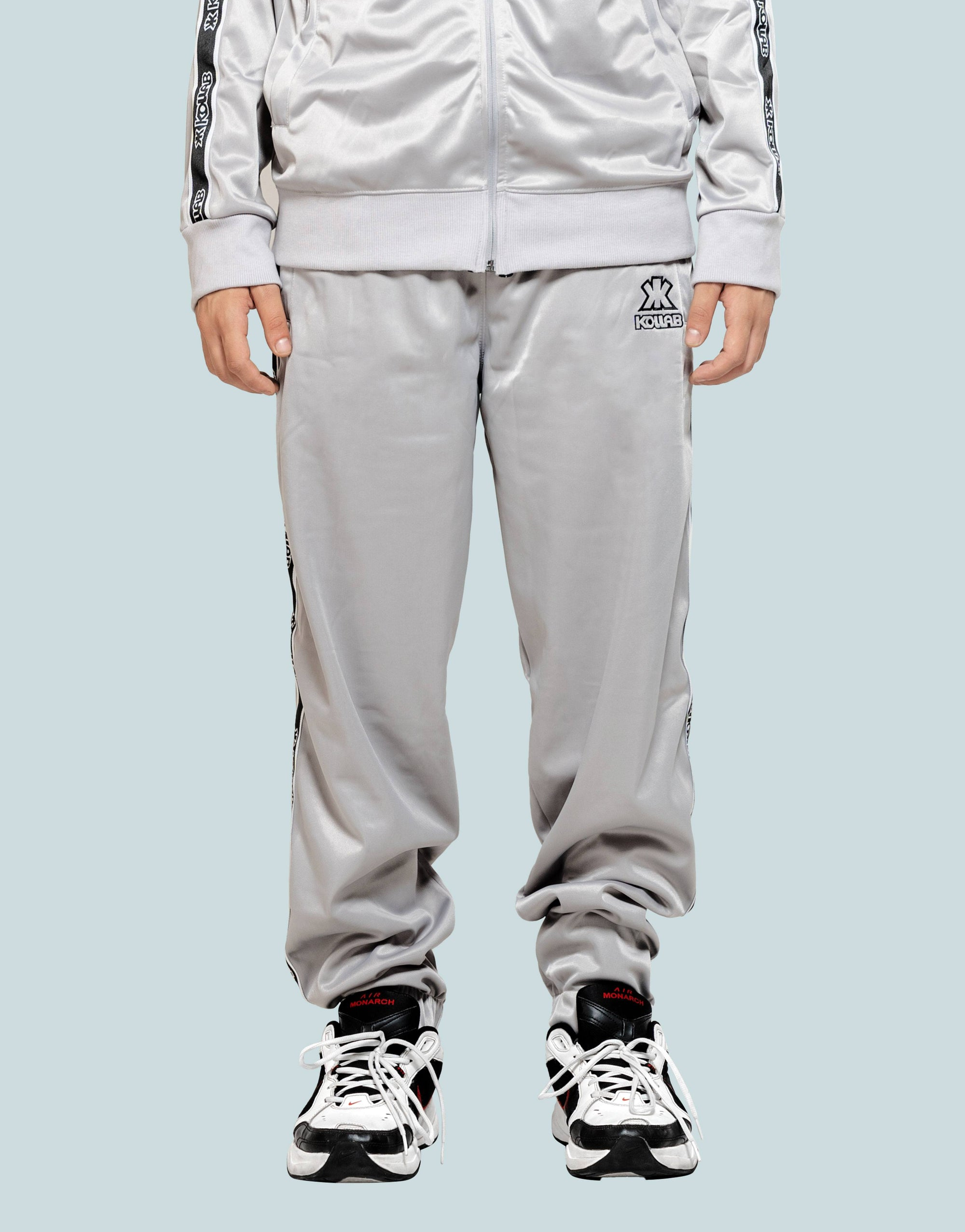 Kollab® Loose-Fit Technical Joggers - Silver-Black | Kollab Lifestyle | www.kollablifestyle.com
