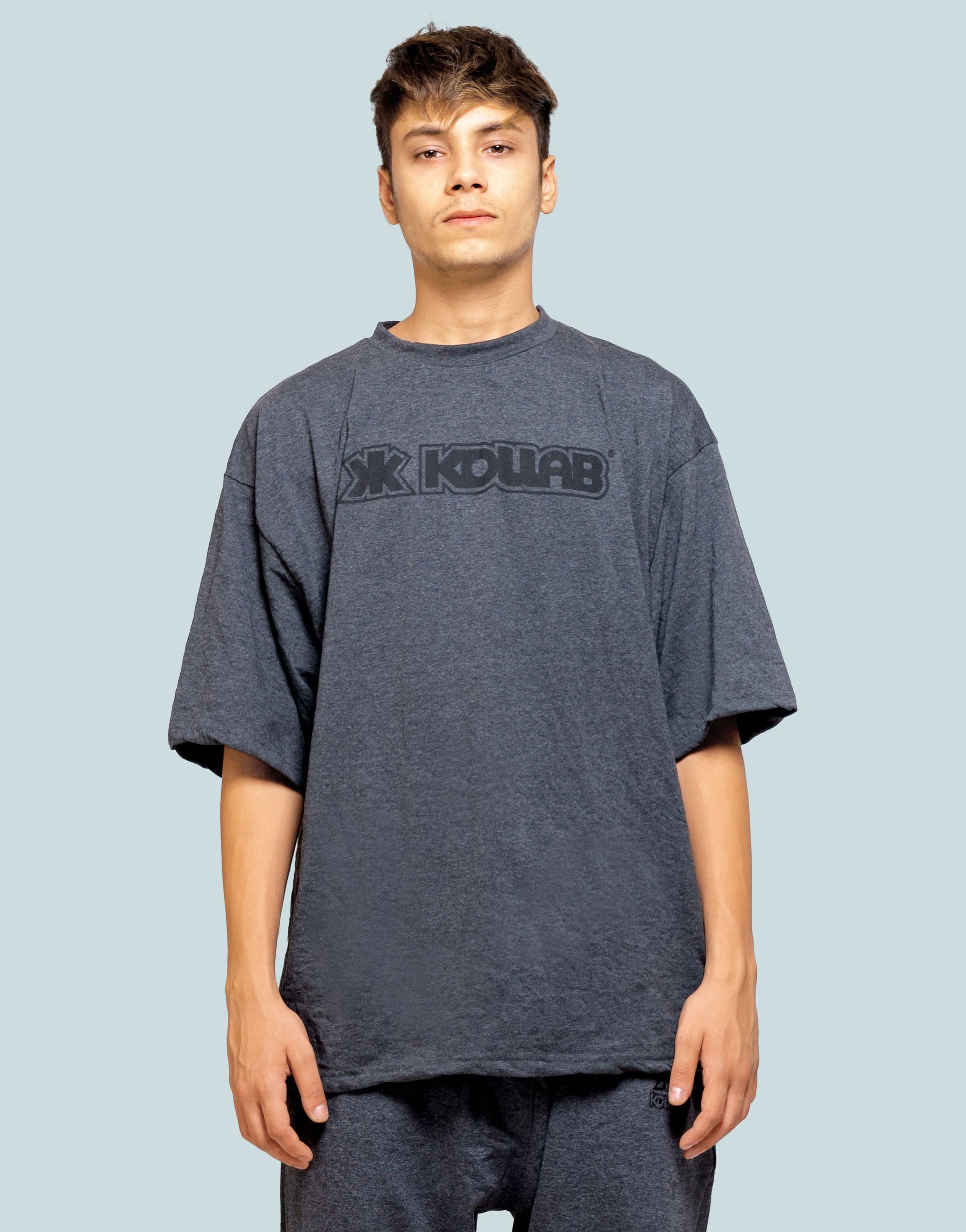 Kollab® Worldwide Oversize T-Shirt - Charcoal Grey-Black | Kollab Lifestyle | www.kollablifestyle.com