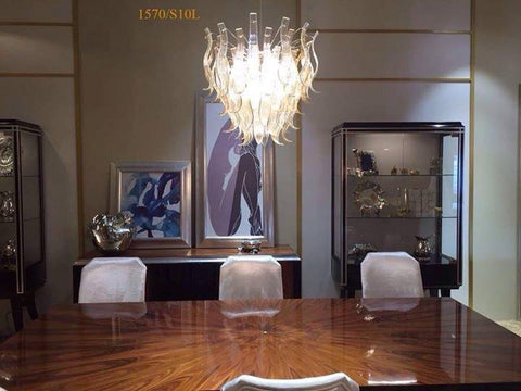 Eden 1570/S10L super luxury venezia murano design chandelier By Michele Bellesso