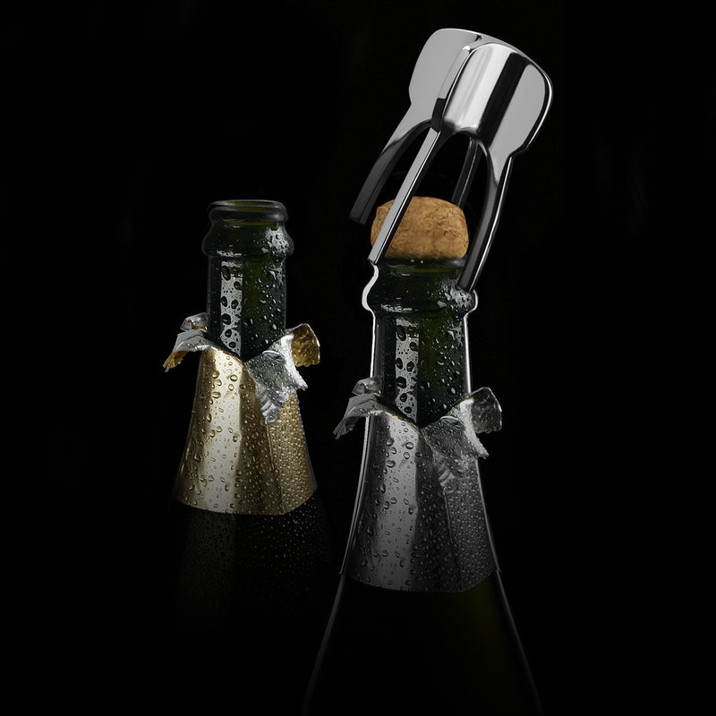 champagne set on bottle