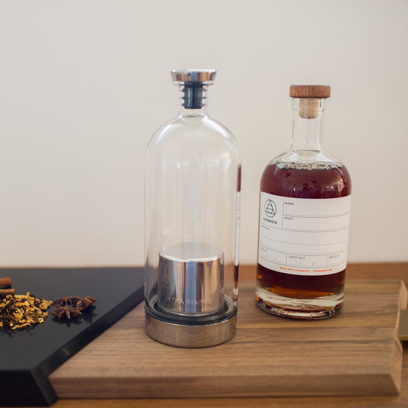 alkemista infusion vessel and spirits bottle - copper