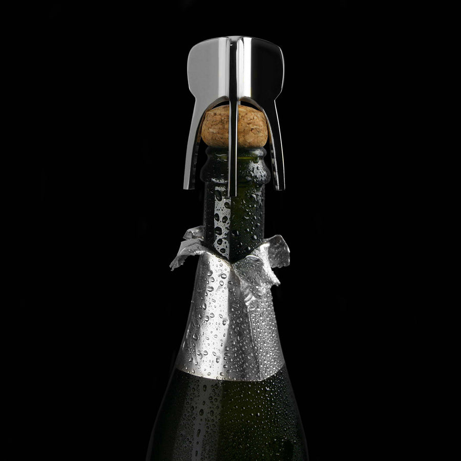 champagne twister on bottle
