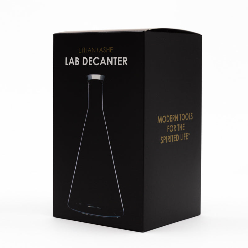lab decanter - package side