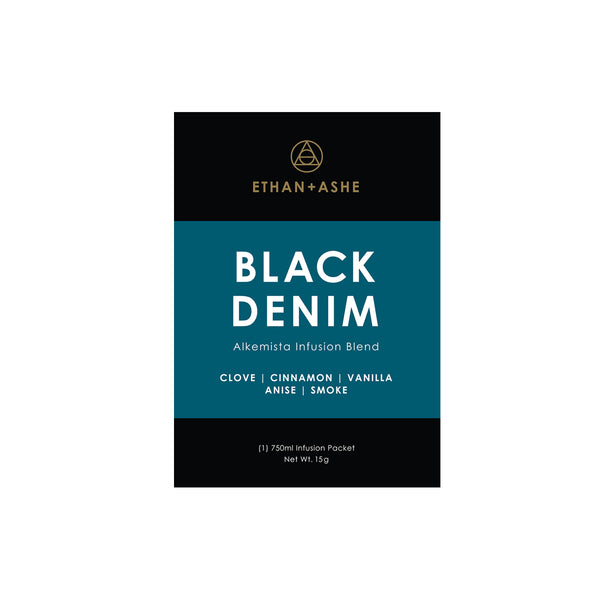alkemista black denim infusion blend