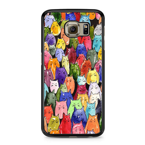 pretty nice 13f2c 5366b Abstract Cat Paintings Samsung Galaxy S6 Case
