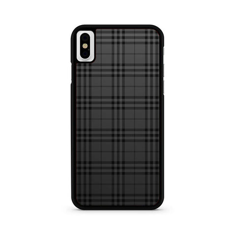 low cost 3ce21 1a413 Black Burberry Pattern iPhone X Case