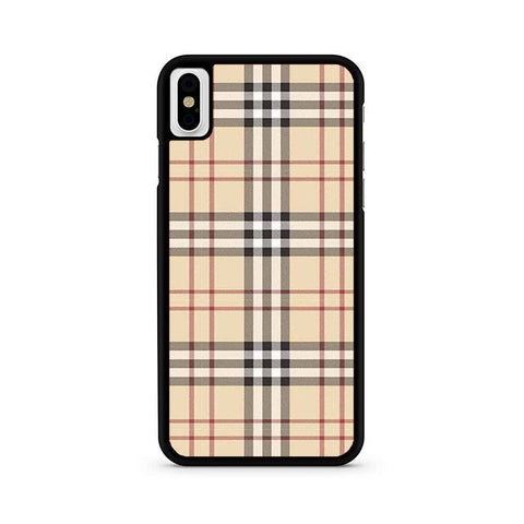 new style dfcca faead Burberry Check Pattern iPhone X Case