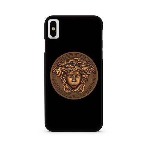 competitive price 12633 fd51b Versace Logo Gold iPhone X Case